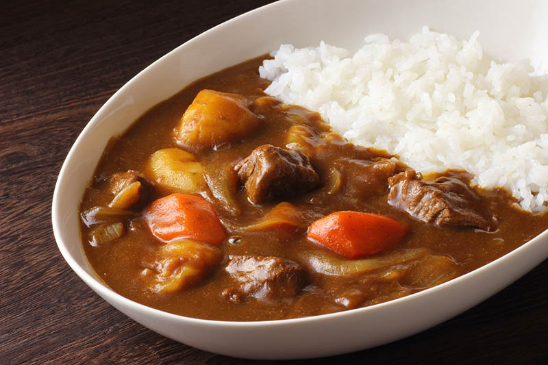 Curry dish with rice