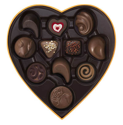 godiva chocolate box heart