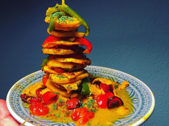 Curried sweet potatoes_My Protein challenge
