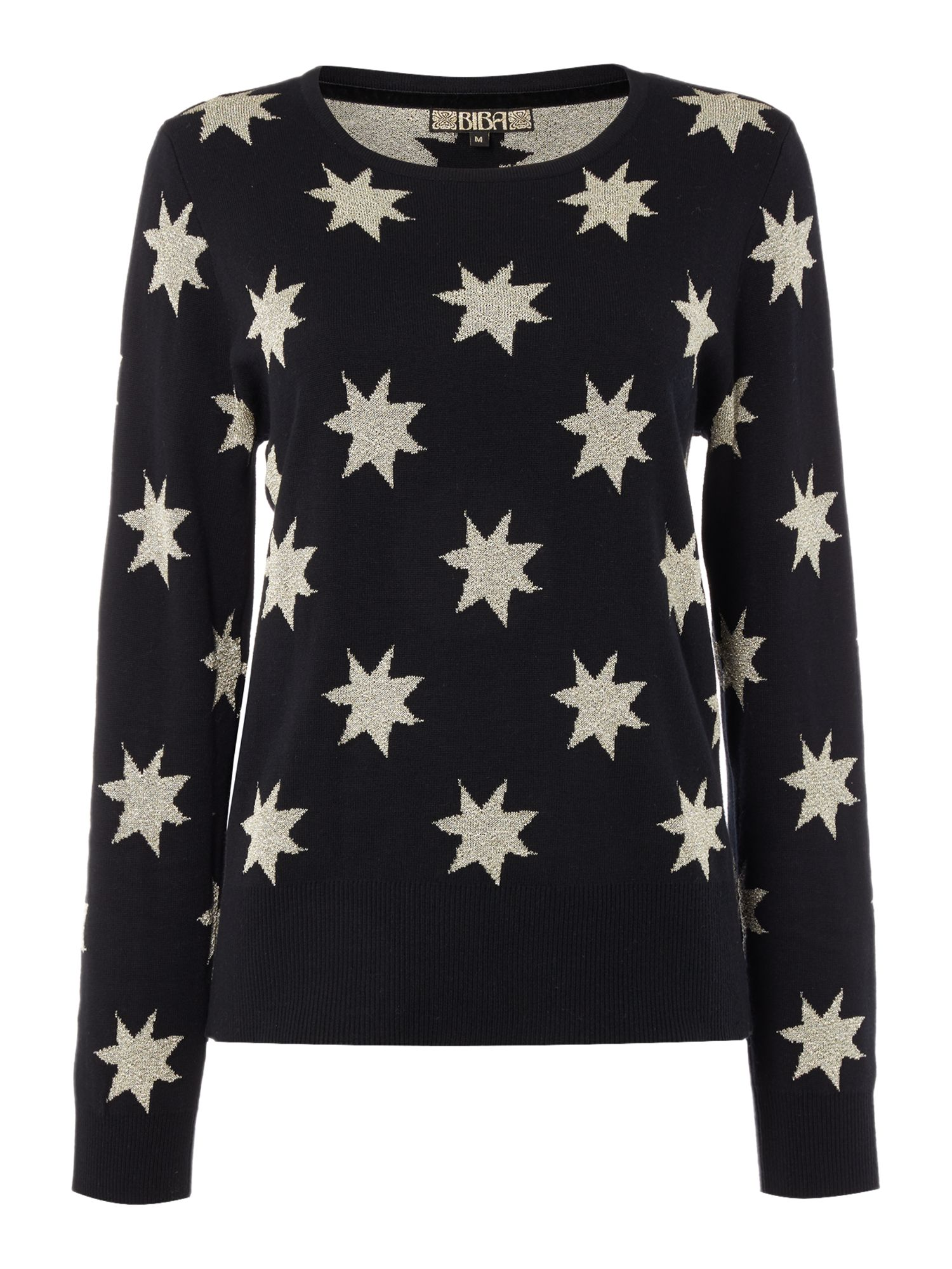 Biba Star Jacquard Crew Neck Jumper House of Fraser