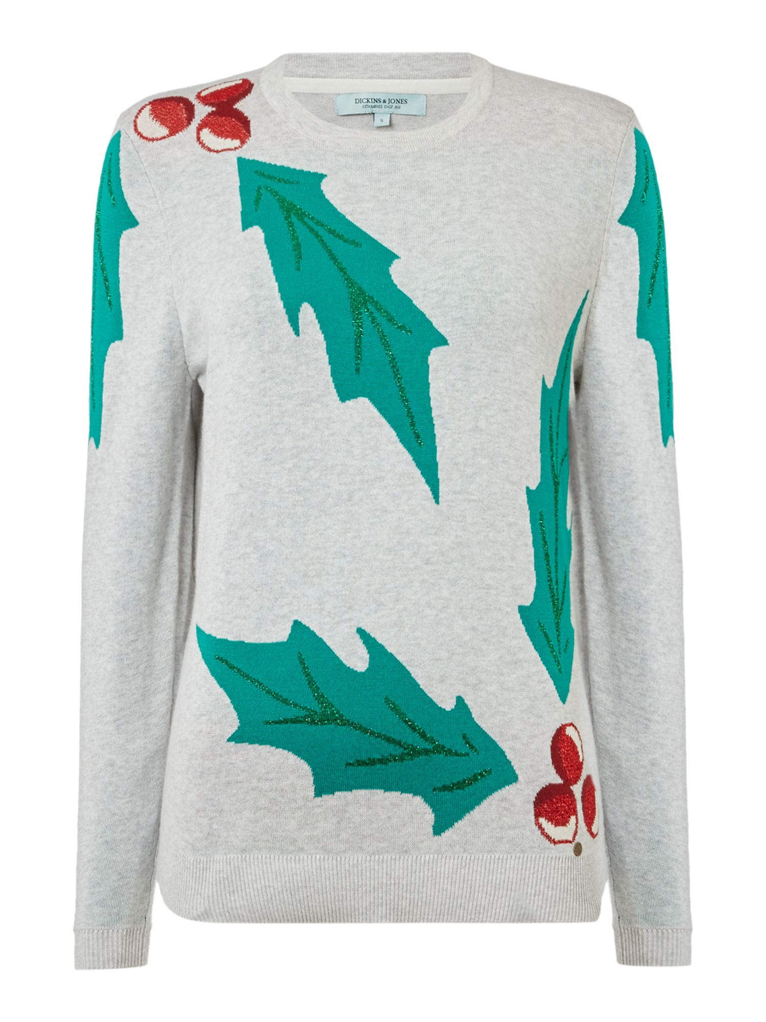 Dickins & Jones Holly Placement Christmas Jumper, House of Fraser