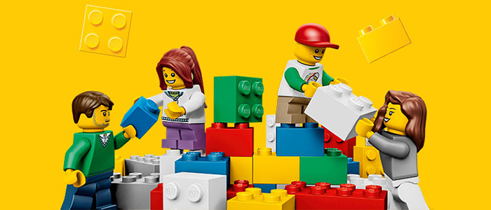 Building lego to raise money for charity