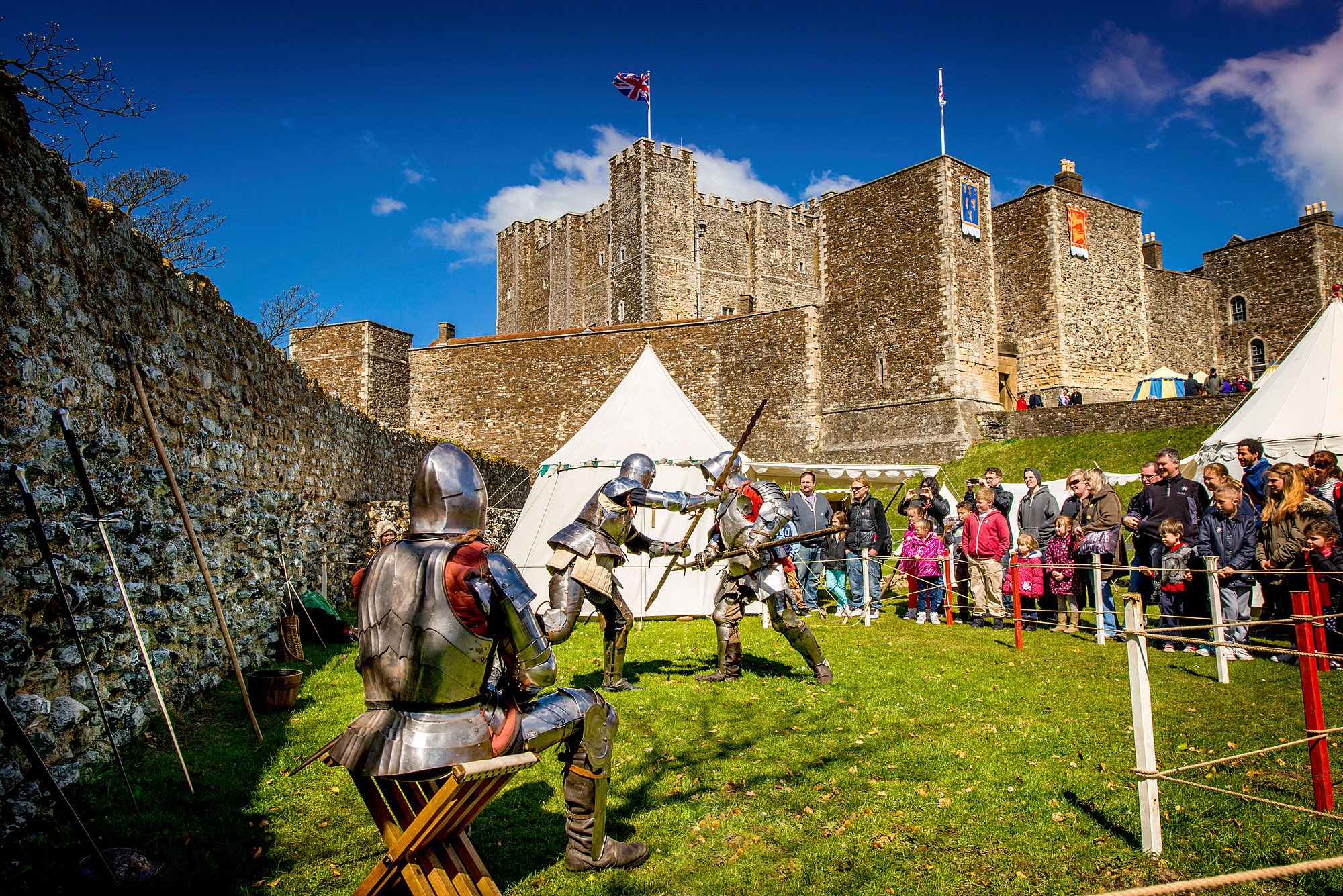 English Heritage Dover Castle St George's Day - Win English Heritage family membership for a year