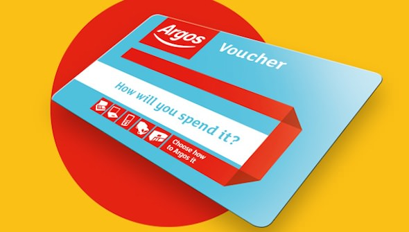 A free voucher to spend on furniture, toys, technology or anything you like at Argos.
