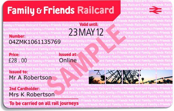 Family & Friends Railcard Sample