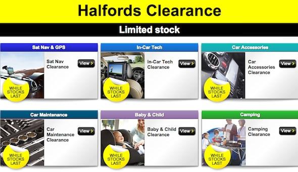 Halfords Clearance