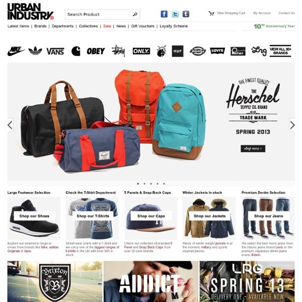 Urban Industry is a streetwear brand that is based in the United Kingdom and is dedicated to providing the best urban apparel to customers nationwide. Their online store is home to more than 3, products, including footwear, jackets, hoodies and everything else you need for the complete look.
