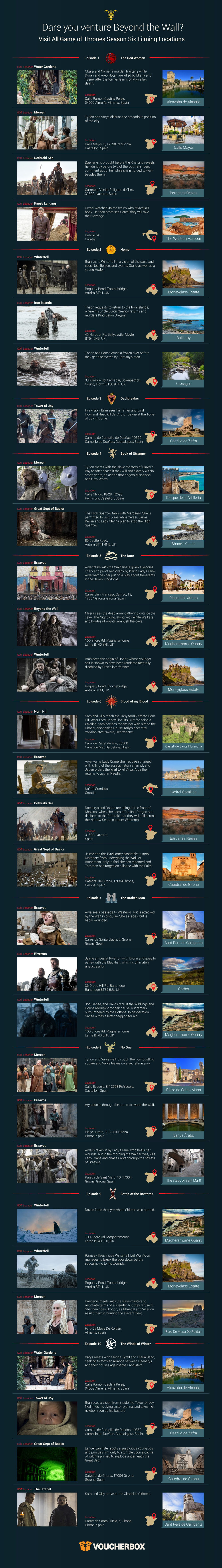 Game of Thrones Season 6 Filming Locations