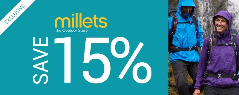 Millets 15%