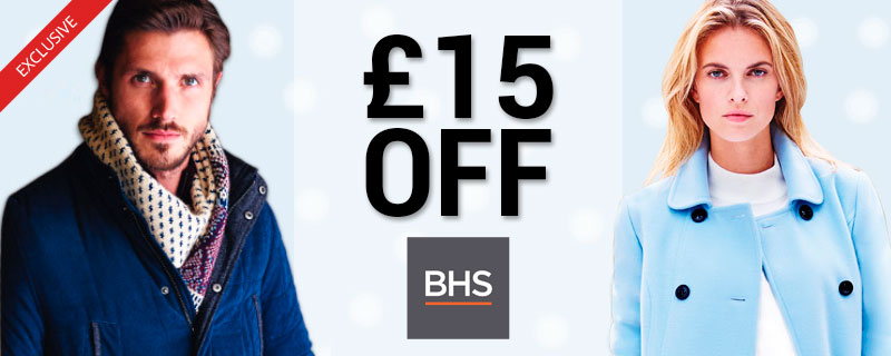 £15 off at BHS