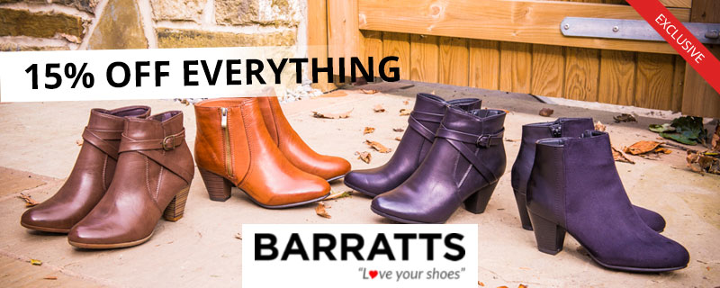 15% off at Barratts