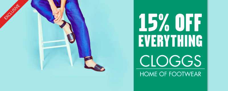 15% off at Cloggs