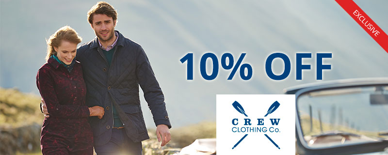 10% off at Crew Clothing