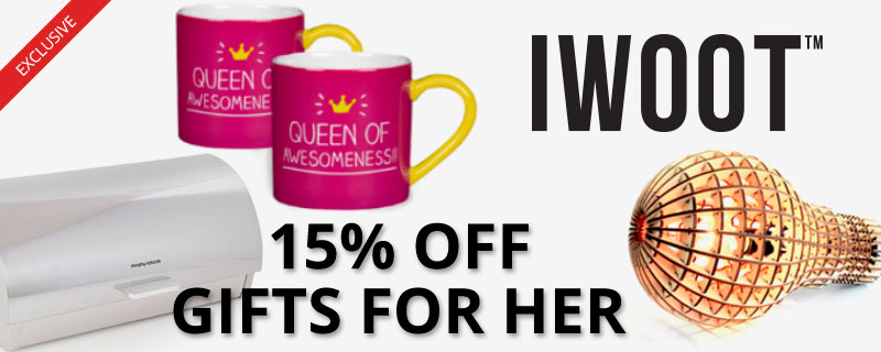 15% off at IWOOT