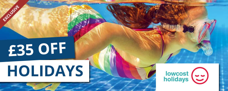 £35 off at Low Cost Holidays