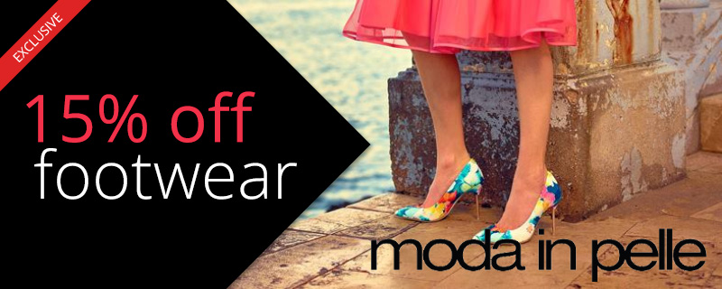 15% off at Moda in Pelle