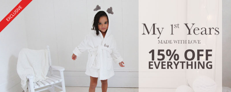 15% off at My 1st Years