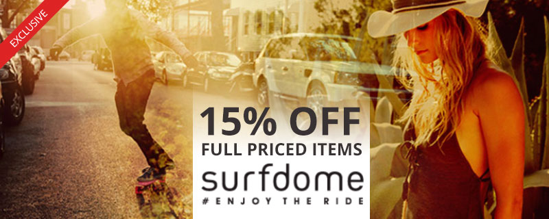 15% off at Surfdome