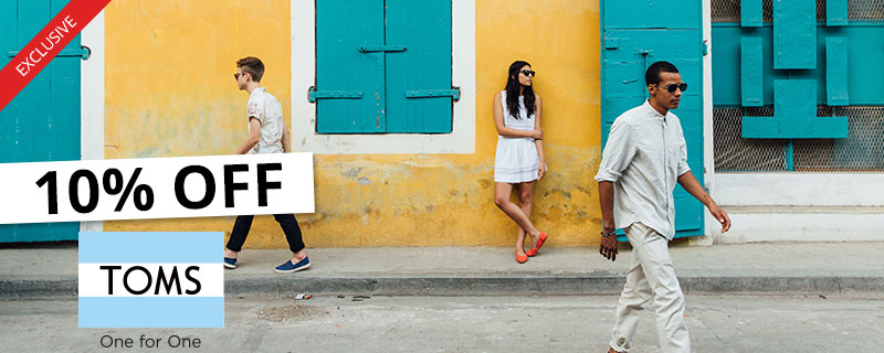 10% off at TOMS