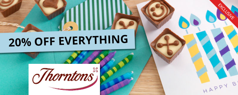 20% off at Thorntons