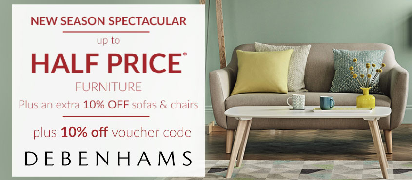 10% off Sofas plus 10% code
