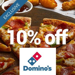 10% off at Dominos
