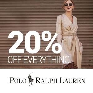 Ralph Lauren 20%
