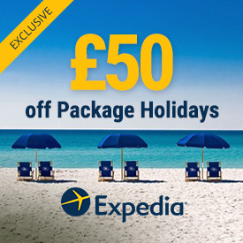 50 off Holidays at Expedia