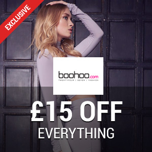 £15 off at Boohoo