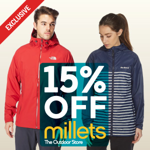 15% off at Millets