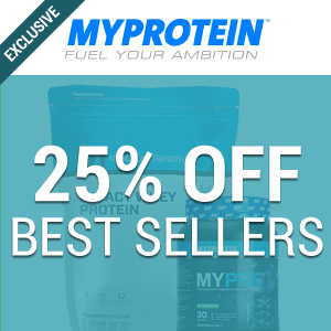 25% off at Myprotein