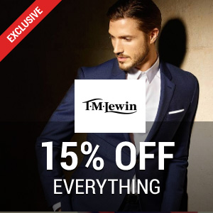 15% off at TM Lewin