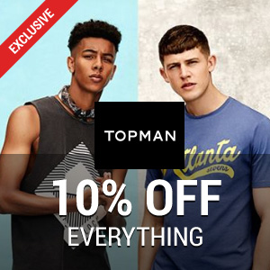 10% off at TOPMAN