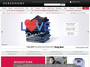 Debenhams screenshot